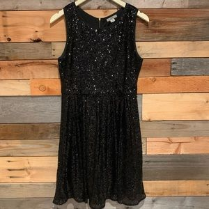 ISSI Black Sequined Dress